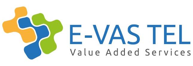 E-VAS TEL Logo with text